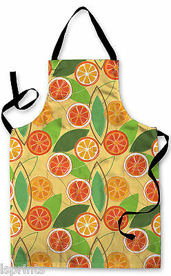 Splashproof Novelty Apron Orange and Leaf Cooking Painting Art Kitchen BBQ Gift