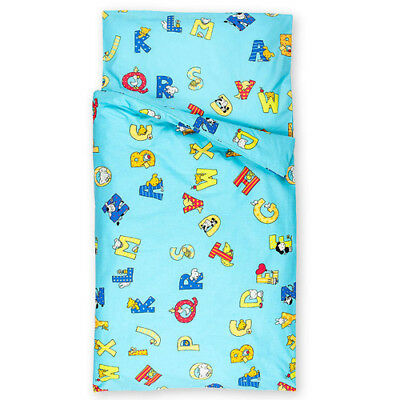 Kids Bed Linen Alphabet 100x135 cm baby bed linen baby bedsheet set cotton