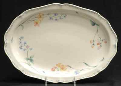 "Noritake AMERICAN FLOWERS 14 1/2"" Oval Serving Platter 414708"