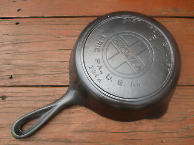 """fully Restored!"" Griswold #5 Large Slant/epu Logo Cast Iron Heat Ring Skillet"