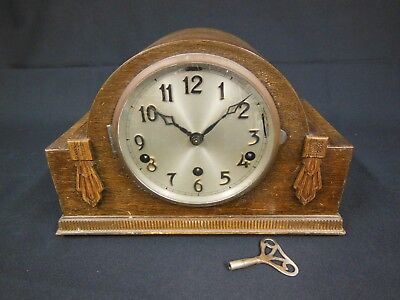 Vintage Wood Cased Mantel Clock (Chimes Westminster or Whittington)