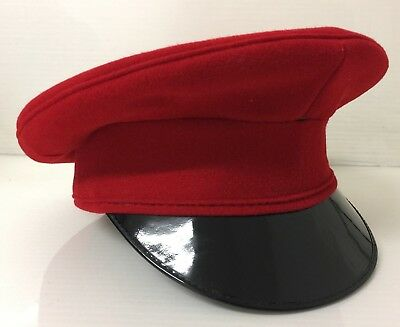 QRH QUEENS ROYAL HUSSARS DRESS PEAKED CAP - Size: 53cm , British Army Issue