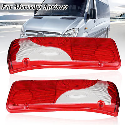 Left+Right Cab Rear Light Lamp Lens For Mercedes Sprinter Chassis VW Crafter MAN