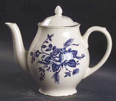 Wood & Sons COLONIAL ROSE BLUE Tea Coffee Pot 5739732