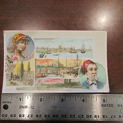 1891 Arbuckle Coffee Turkey Constantinople Sophia Church Advertising Card