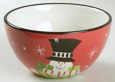 Certified International HOLIDAY SNOWMAN Presents Ice Cream Dish 6316147