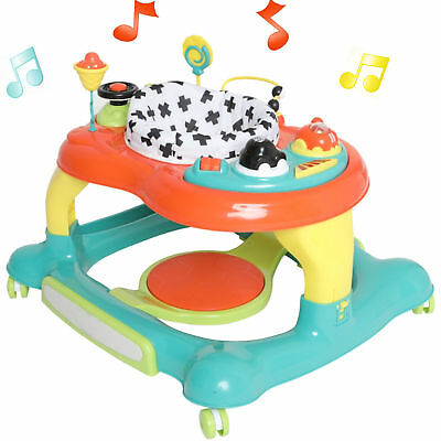 New My Child Multicolour Roundabout 4 In 1 Baby Walker Adjustable Musical Rocker