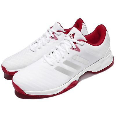 adidas Barricade Court 3 III White Red Scarlet Men Tennis Shoes Sneakers CM7814