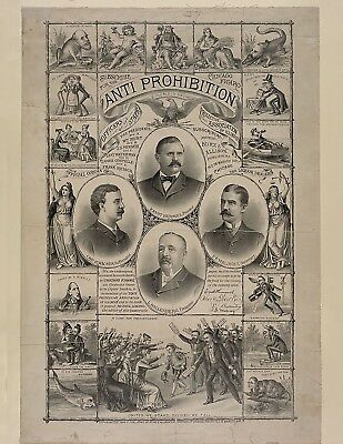 """Anti-Prohibition 1888 Poster 17""""X22"""" printed on High Quality Photo Paper"""