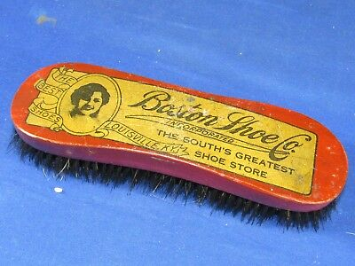 Antique Boston Shoe Co. Store Louisville,Ky. Wood Brush-Polish-Cleaning Tool