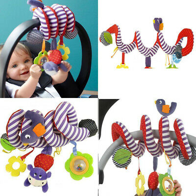 Baby Activity Spiral Stroller Car Seat Travel Lathe Hanging Toys Rattles Toy GOD