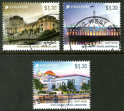 Singapore 2015 Joint Issue with Australia and New Zealand set of 3 Fine Used