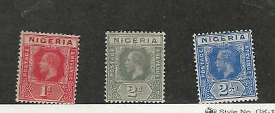Nigeria, Postage Stamp, #2-4 Mint Hinged, 1914