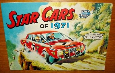 Presented with The Victor. Star Cars Of 1971. Album and Sheet 1 Stickers