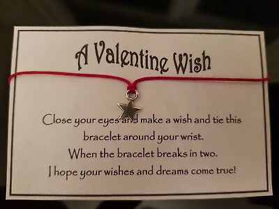 Wholesale * Job Lot * Bulk * Valentine Wishes * Wish Bracelet * Friendship *