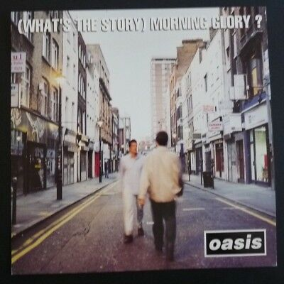 OASIS Morning Glory LP Poster Photo Double Sided Record Flat 12x12 RARE