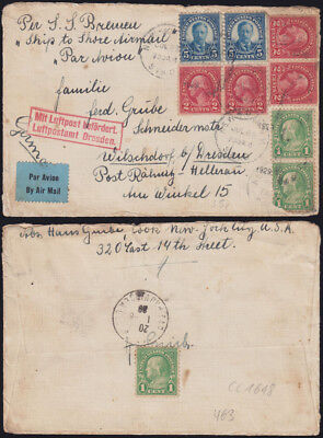 USA 1929/38 Ship to Shore Airmails Schleuderpost MiF SS Bremen+ SS Normandie? RR