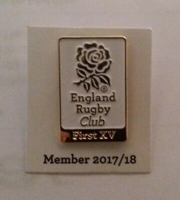 England Rugby Union First Xv Supporters Club 2017/18 2018 Members Pin Badge