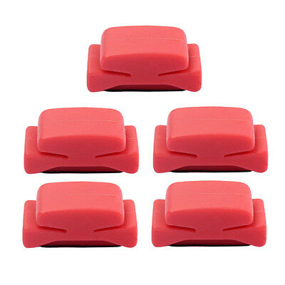 Guitar Pick Holder 5pcs Red Plastic Cement Plectrums Fix on Guitar Headstock