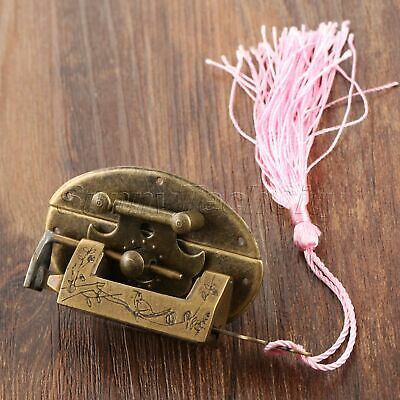 Antique Bronze Padlock & Latch Hasps Clasp Latches Carved Bird Flower Decorative