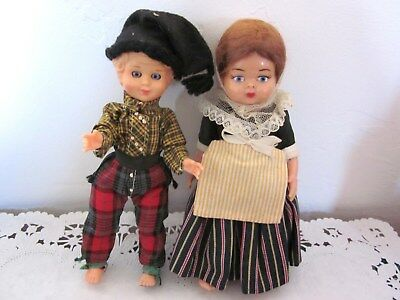 Small Vintage Celluloid Dolls Boy Girl German