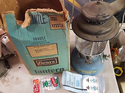 Vintage Sears And Roebuck Camping Lantern In Box