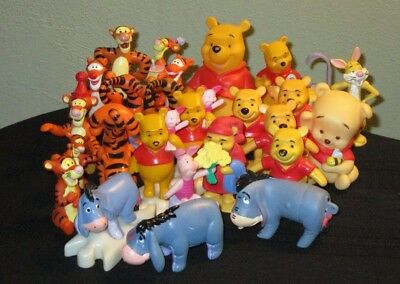 25 pc lot of Winnie the Pooh PVC Figures TIGGER cake toppers Eeyore flashlight