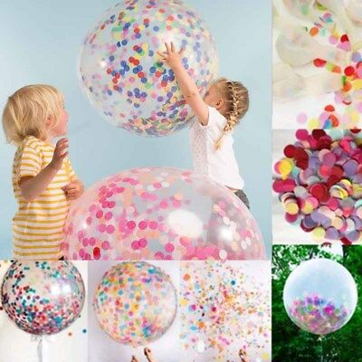 36 Inch Random Color Party City Birthday Balloons Transparent Large Clear EA C6