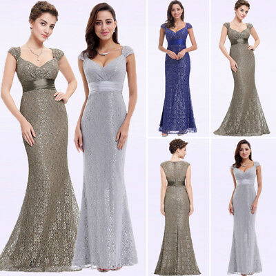 Ever Pretty US Elegant Long V-neck Evening Dresses Mermaid Formal Gowns 08798