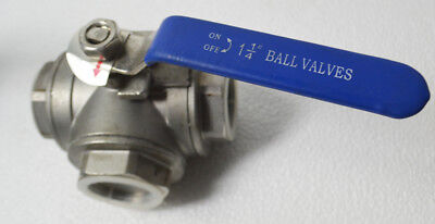 Good Quality 1+1/4Inch DN32 304 Stainless Steel Valve Ball Valve Threaded T-type
