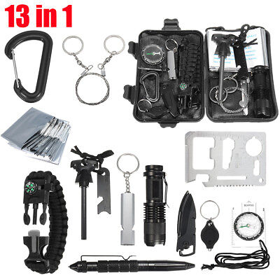 SOS Emergency Survival Equipment Tool Outdoor Sports Tactical Hiking Camping Kit