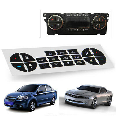 AC Button Repair Kit Dash Replacement Decal Stickers Fit For 07-13 GM Vehicles