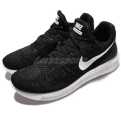 Nike Lunarepic Low Flyknit 2 Black White Men Running Sock-Like Shoes  863779-001