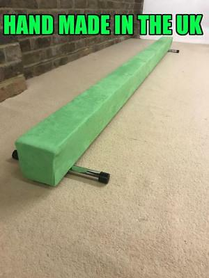 finest quality gymnastics gym balance beam 8FT long NEW ELECTRIC GREEN