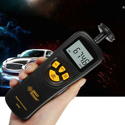 LCD Digital Tachometer Contact Motor RPM Tachometer Tach Tester Speedometer