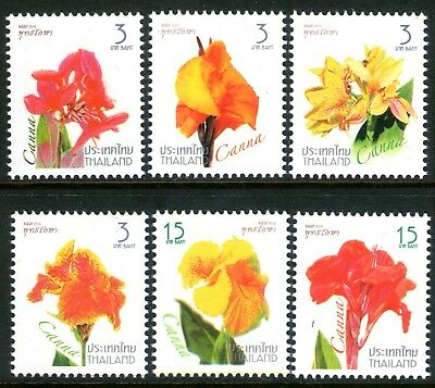 Thailand 2016 Flowers set of 6 Mint Unhinged