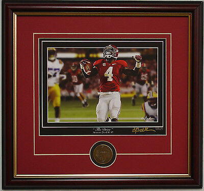 "ALABAMA vs LSU ""The Drive"" framed print by Greg Gamble TJ Yeldon AJ McCarron"