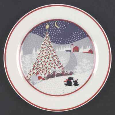 Noritake TWAS THE NIGHT BEFORE CHRISTMAS (8100) Salad Plate 471051
