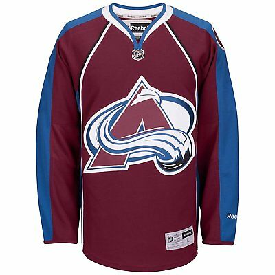 NHL Colorado Avalanche Premier Reebok Burgundy Hockey Jersey