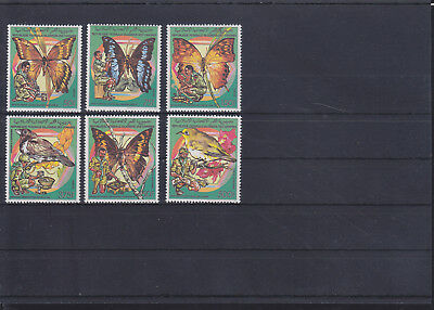 058428 Schmetterlinge Butterfly ... Comores 878-83 ** MNH Year 1989