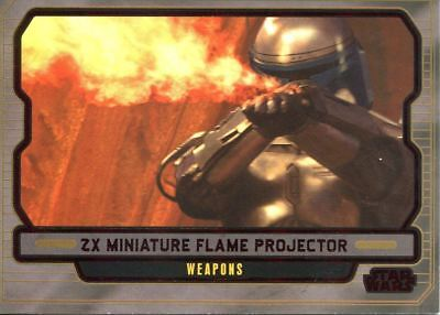 Star Wars Galactic Files 2 Red Parallel Base Card #603 ZX miniature flame proje