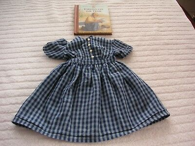 Pleasant Company Kirsten On the Trail Gingham Dress & New Short Stories Book.