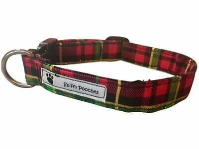 SPIFFY POOCHES Dog Cat Collar Clothes PLAID TARTAN * BUY 1 GET 1 50% OFF *