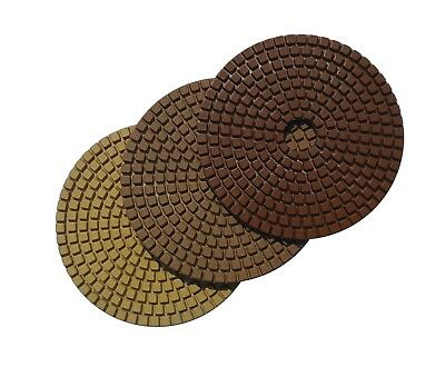Diamond Polishing Pads 3 - Step Set 4 Inch for Granite Concrete Marble Stone