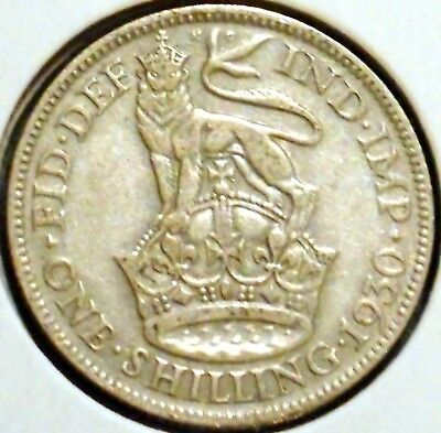British Silver Shilling - 1930 - King George V - $1 Unlimited Shipping