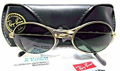 """Ray-Ban USA *NOS Vintage B&L Orbs """"Ellipse Oval W2177 Matte Gold *NEW Sunglasses"""
