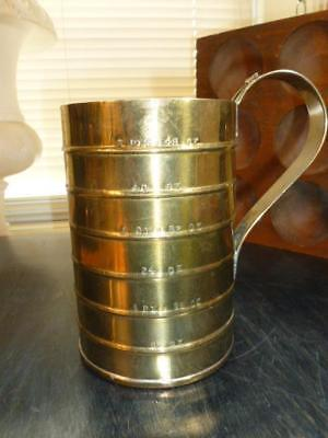Vintage Large Brass Plated Copper Measuring Cup Cocktail 3 PTS 48 OZ.