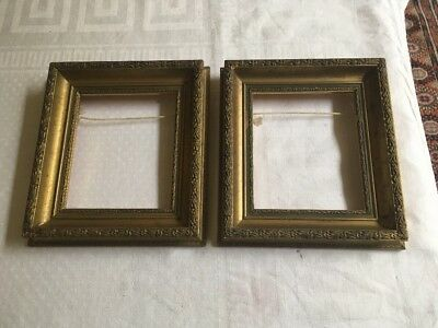 Pair Of Small Vintage Gilt Wood Picture Frames