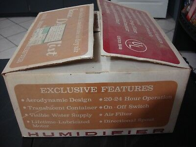 Vintage Kaz Dynamist Model 1000 Humidifier In Original Box Does Work