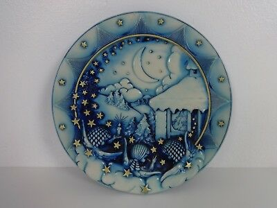 Christmas Plate Silent Night Millenium Alfonso Lucchesi FARO Prinknash Abbey